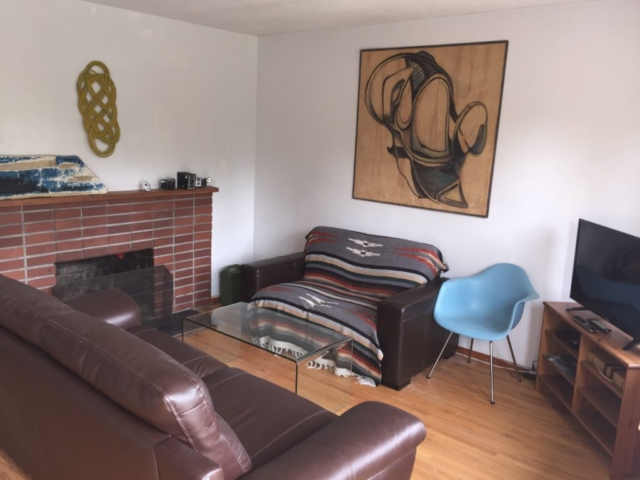 living room at best ucluelet vacation rental